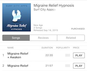 i mp3 migraine relief mp3 version