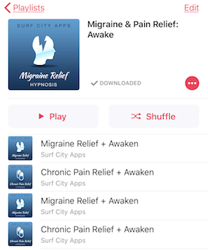 j mp3 migraine and pain relief playlist day version